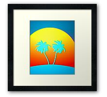 Psychedelic Palms Framed Print