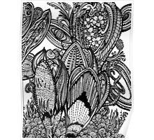 Crocus - Ink Drawing Poster