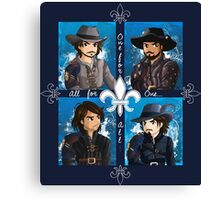 The Musketeers season 3 Canvas Print