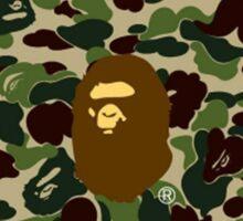 army bape brown Sticker