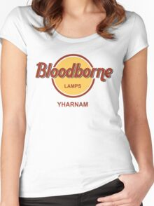 Bloodborne Lamps - Yharnam Women's Fitted Scoop T-Shirt