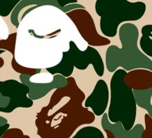 bape logo army Sticker