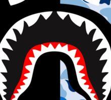 shark black blue Sticker