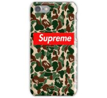 supreme army iPhone Case/Skin