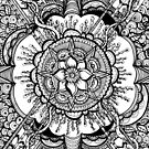 Where the Vines Grow, Ink Drawing by Danielle Scott