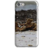 Sponge on the beach iPhone Case/Skin
