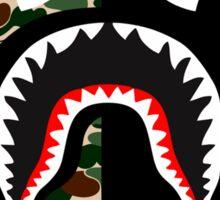 shark army black Sticker