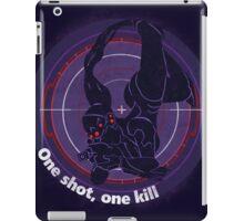 One shot, one kill iPad Case/Skin