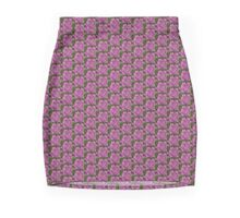 Tattoo style pink rose Mini Skirt