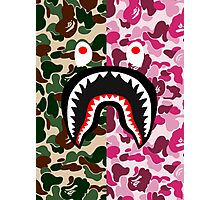 shark army red Photographic Print