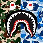 shark army blue by mayman