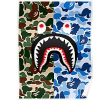 shark army blue Poster