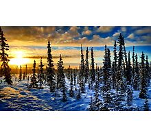 alaskan sunrise Photographic Print
