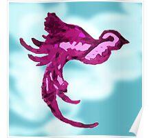Purple Bird in Sky Poster