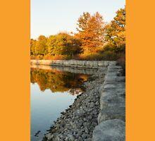 Reflecting On Autumn - Gray Rocks Highlighting The Foliage Brilliance Unisex T-Shirt