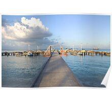 Hardicurrari Wharf Palm Beach Aruba  Poster