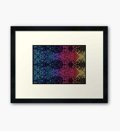 Psychedelic mosaic Framed Print