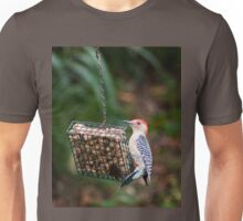Red Bellied Woodpecker Feeding Unisex T-Shirt