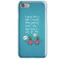 Onions (white) iPhone Case/Skin
