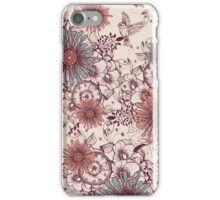 Vintage flower background iPhone Case/Skin