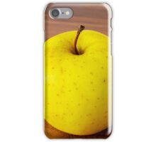 yellow apple on the table iPhone Case/Skin