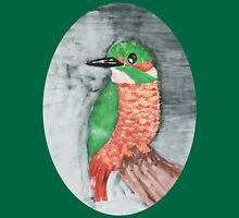 Colorful Red and Green Kingfisher Bird Unisex T-Shirt