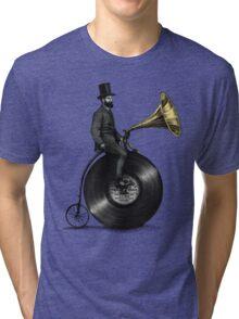 Music Man (green colour option) Tri-blend T-Shirt