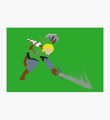 The Legend of Zelda - Minimalist Link Photographic Print