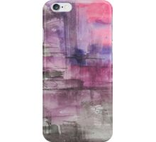 Hot Pink Purple and Black Dripping Abstract iPhone Case/Skin