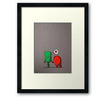 Love monsters Framed Print