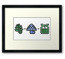 Monster Hunter Potion Ingredients Framed Print