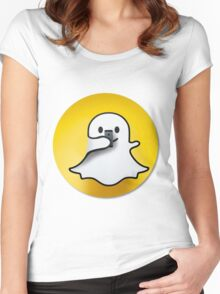 snapchat Women's Fitted Scoop T-Shirt