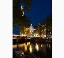 Magical Amsterdam Night - Westerkerk Through the Trees Unisex T-Shirt