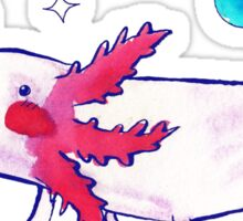 Sparkly Bubbly Watercolor Axolotl  Sticker