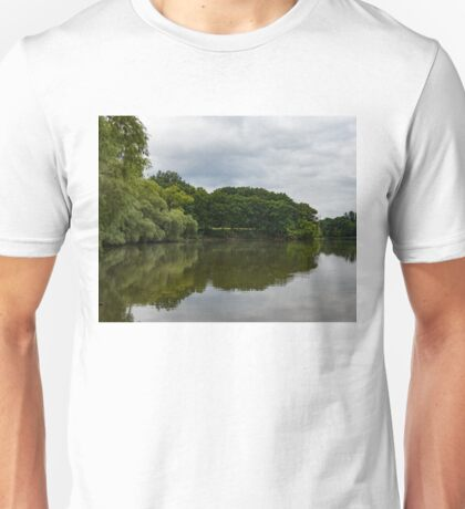 Green and Gray Summer Mirror Unisex T-Shirt