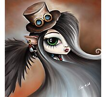 Steampunk Vampire Girl - Dark Angel Photographic Print