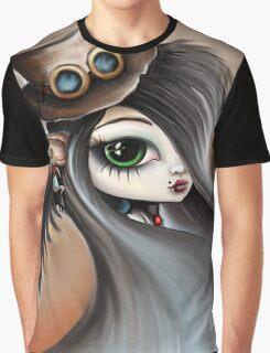 Steampunk Vampire Girl - Dark Angel Graphic T-Shirt