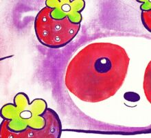 Strawberry Sloth Watercolor Sticker