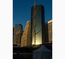 Manhattan Sunrise Reflection Through Masts and Rigging T-Shirt
