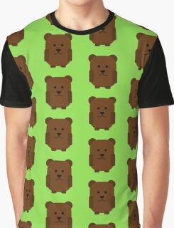 Cute Grizzly Bear Graphic T-Shirt