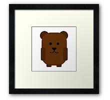 Cute Grizzly Bear Framed Print