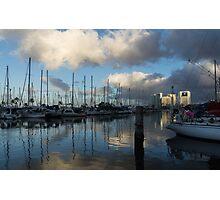 Spectacular Storm Light - Tropical Skies Over Ala Wai Harbor in Honolulu, Hawaii Photographic Print