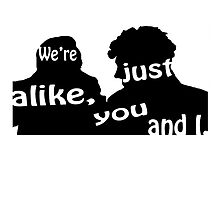 We're just alike, you and I by edwardvsdamon