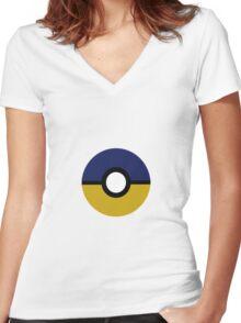 Ravenclaw Pokeball (Ravenball?) Book Colours Women's Fitted V-Neck T-Shirt