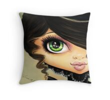 Victorian Gothic - Vampire Girl Throw Pillow