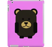 Cute Black Bear iPad Case/Skin