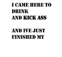 DRINK MILK. KICK ASS. Photographic Print
