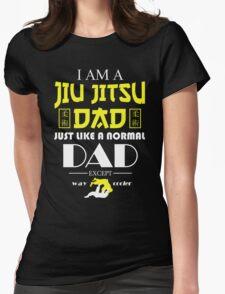 I AM A JIU JITSU DAD Womens Fitted T-Shirt
