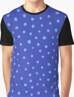 Blue dots Graphic T-Shirt