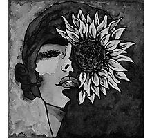 Sunflower Girl Photographic Print